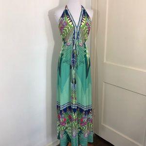 Hale Bob Boho Maxi Dress Medium